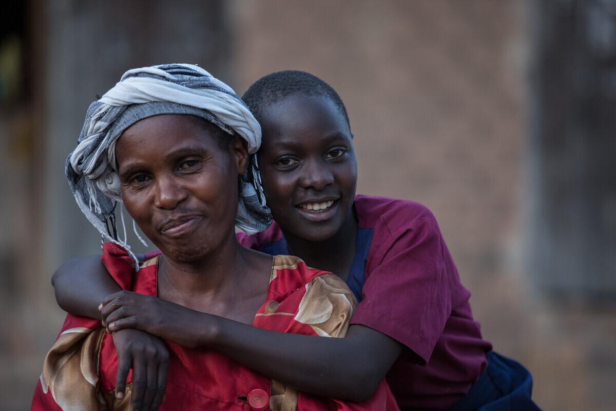 Nakiyimba Christine and her mother Namuddu Harriet