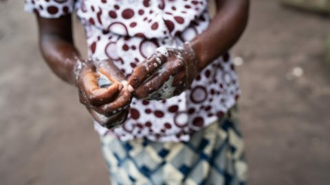 Dina washing her hands 2 e1584458657990