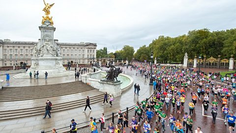 Royal Parks runners outside Buckingham Palace