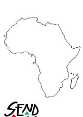 Africa colouring outline page 001