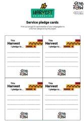 Harvest Service Pledge Cards
