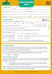 School donation form capture